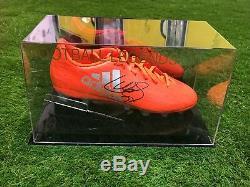 Luis Suarez Signed Football Boot Barcelona Uruguay Liverpool Display Case COA
