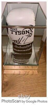 MIKE TYSON SIGNED LTD EDIT GLOVE IN SUPERB GLASS DISPLAY CASE COA £275 Delivered