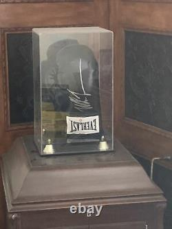 MIKE TYSON Signed Auto Black Everlast Boxing Glove With Display Case Steiner COA