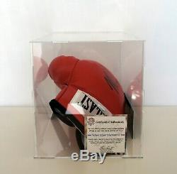 MIKE TYSON Signed Autographed EVERLAST Boxing Glove in display case Schwartz COA