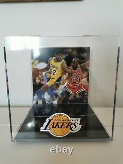 Magic Johnson Los Angeles Lakers Signed Basketball Display Case And Beckett COA