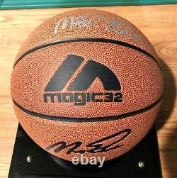 Magic Johnson Signed Basketball with display case & COA