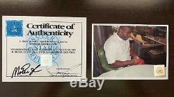 Magic johnson autographed basketball W COA, Display Case and Name Plate