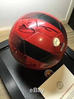 Manchester United Squad Signed Football+ Display Case Man Utd Club Issued Coa