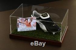 Marco van Basten Signed Football Boot Display Case Holland Dutch Autograph COA