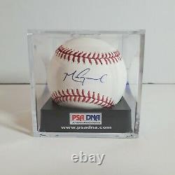Mark Grace Autographed MLB Signed Rawlings Baseball PSA DNA COA Display Case