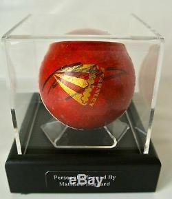 Matthew Hoggard Signed Autograph Cricket Ball Display Case Sport PROOF & COA