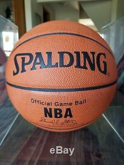 Michael Jordan Autographed Spalding Basketball with COA and display case BOLD AUTO