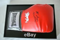 Michael Watson Signed Autograph Boxing Glove Display Case Sport PROOF & COA