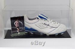 Mick Channon Signed Autograph Football Boot Display Case Southampton COA