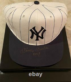 Mickey Mantle New York Yankee Double Signed Hat COA
