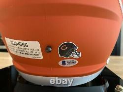 Mike Singletary Bears autographed signed Helmet / Display Case Beckett BAS COA