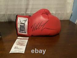 Mike Tyson Autograph Everlast Glove With Display Case Heavyweight Champ JSA COA