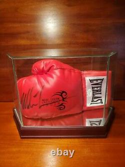 Mike Tyson Autographed Boxing Glove With COA. Display Case Included