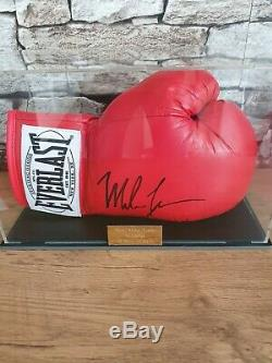 Mike Tyson Signed Boxing Glove With COA In Display Case