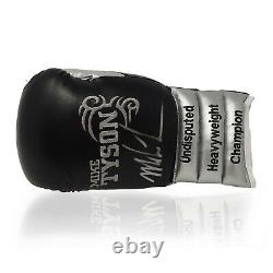 Mike Tyson Signed Boxing Glove World Champion in a Display Case AFTAL COA