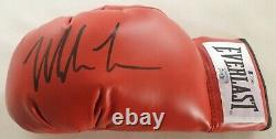 Mike Tyson Signed Boxing glove with Led lighted Display case + COA by Beckett