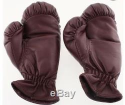 Mike Tyson Signed Pair of (2) Everlast Boxing Gloves (PSA COA) With DISPLAY CASE