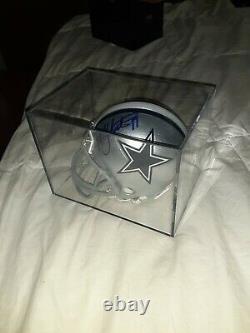 Miles Austin No 19 Signed Dallas Cowboys NFL Riddell Mini Helmet With Coa