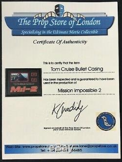 Mission Impossible 2 9mm Bullet Casings From Tom Cruise Gun Display with COAs