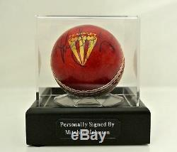 Mitchell Johnson Signed Autograph Cricket Ball Display Case Australia & COA