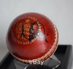 Moeen Ali Signed Autograph Cricket Ball Display Case Sport Australia AFTAL COA