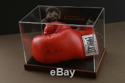Muhammad Ali Signed Boxing Glove Display Case Memorabilia Autograph Online COA
