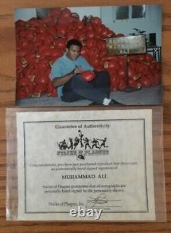 Muhammad Ali Signed Glove withCOA in display case