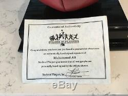 Muhammed Ali Autographed Everlast Speed Bag With Display Case And Coa