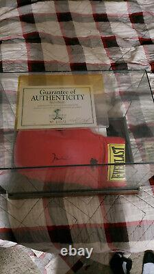 Muhammed Ali signed boxing glove with COA and display case