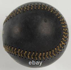 NOLAN RYAN Signed OML Black Leather Baseball In Display Case Autographed PSA COA