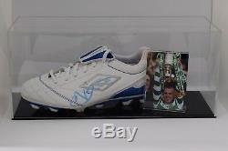Neil Lennon Signed Autograph Football Boot Display Case Celtic COA