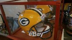 Nice! Aaron Rodgers Signed Packers Full Size Helmet W Display Case & Coa