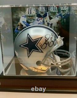 Nice! Zeke Elliot Signed Cowboy Mini Helmet W Beckett Coa And Display Case