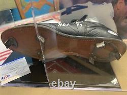 Nolan Ryan Signed Baseball Cleat With Display Case Inscribed HOF'99 (PSA COA)