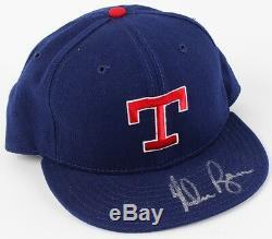 Nolan Ryan Signed Rangers Baseball Cap with High Quality Display Case (PSA COA)