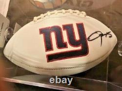 Odell Beckham Jr. Signed Autographed GIANTS Football /coa +display Case