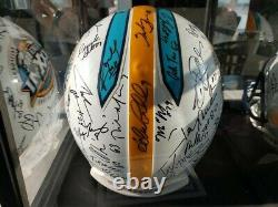 Official Super Bowl 37 Helmet Signed by the Oakland Raiders withCOA & Display Case