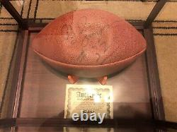 Oj simpson autograph football. Comes with COA from locker 32. In display case