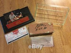 Original Montreal Forum Brick Signed by Guy Lafleur #10- DISPLAY CASE INC COA