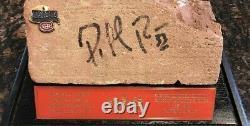 Original Montreal Forum Brick Signed by Patrick Roy #33- DISPLAY CASE INC COA
