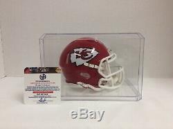 Patrick Mahomes Kansas City Chiefs Signed Mini Helmet GA COA In Display Case