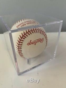 Paul O'Neill Autographed 1996 World Series Baseball Yankees Display Case COA