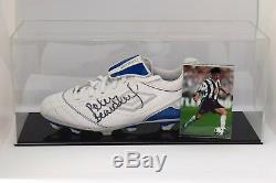 Peter Beardsley Signed Autograph Football Boot Display Case Newcastle COA