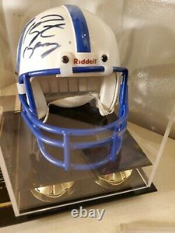 Peyton Manning Autographed Indianapolis Colts Mini Helmet with Display Case & COA