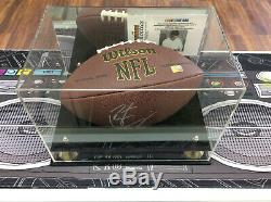 Peyton Manning Autographed Signed Full size Wilson Football in display case COA