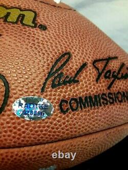 Peyton Manning MVP signed official NFL football with COA includes display case