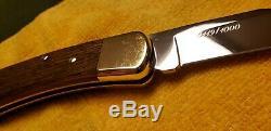 RARE 1990 BUCK 110 LIMITED EDITION CUSTOM KNIFE NEVER USED COA/Display Case
