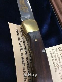 RARE Collectible Buck Model 110 Golden Eagle Knife withDisplay Case #44 of 250 COA