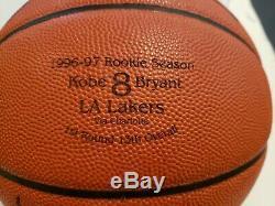 RARE Kobe Bryant 1996 Rookie SIGNED Spalding basketball PSA DNA COA display case